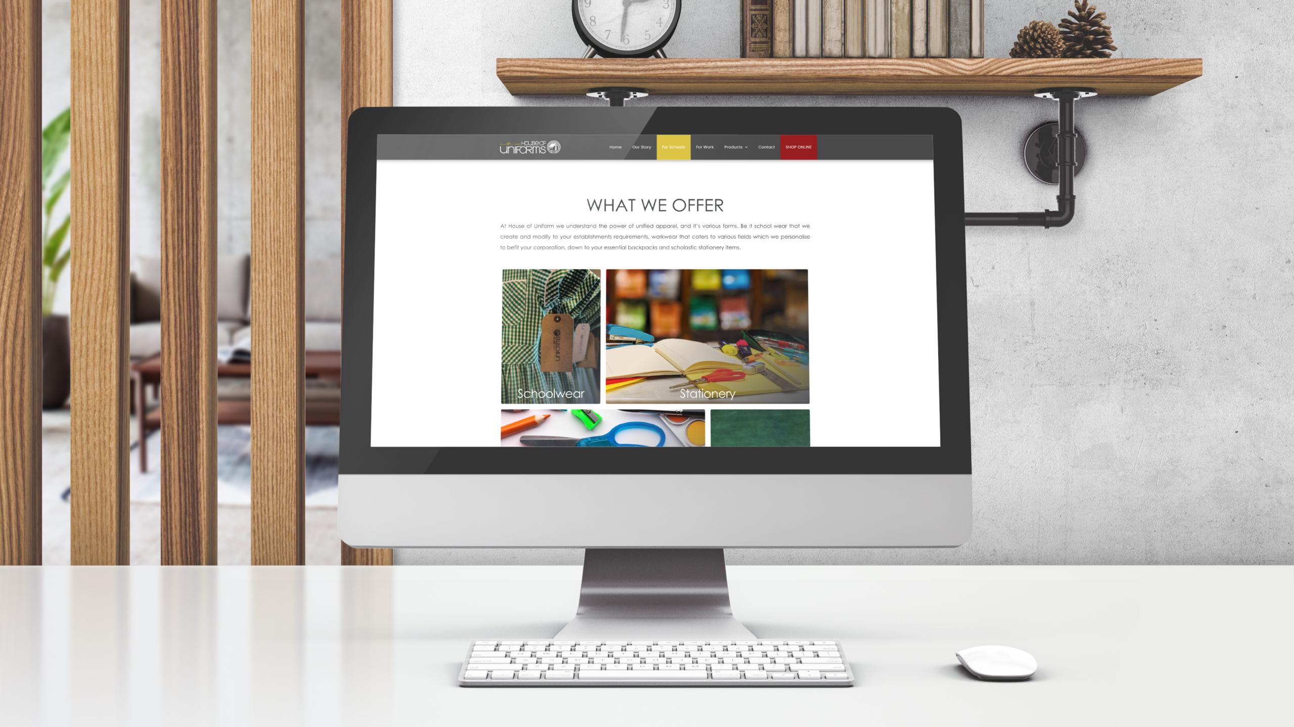 House of Uniforms Website